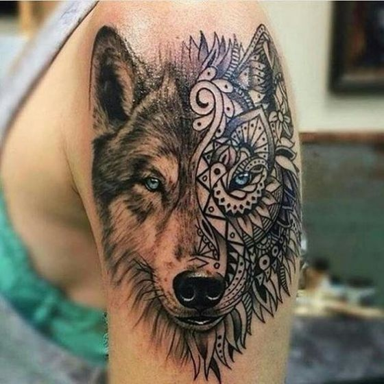 lobo-tattoo-tribal