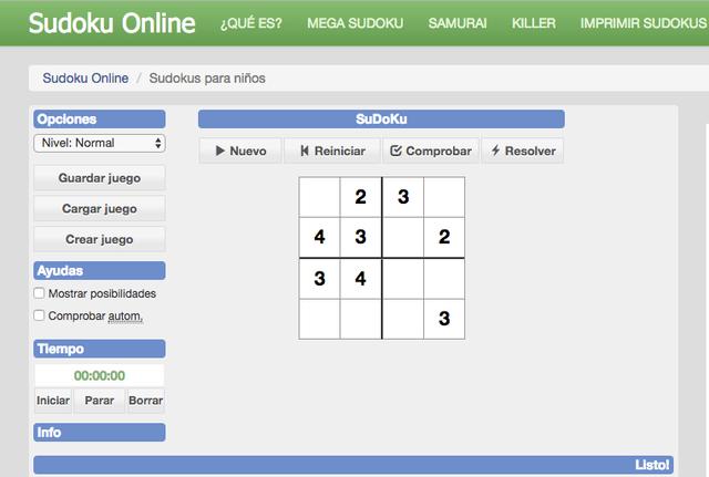 sudoku-ninos-online