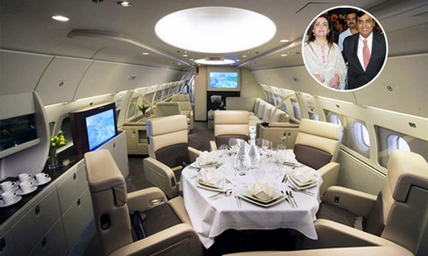 Mukesh Ambani Handed This Luxurious Air Bus To Her Wife Nita On 44th Birthday The 60 Million Worth Asset Comprises A Bar Chamber Bathrooms